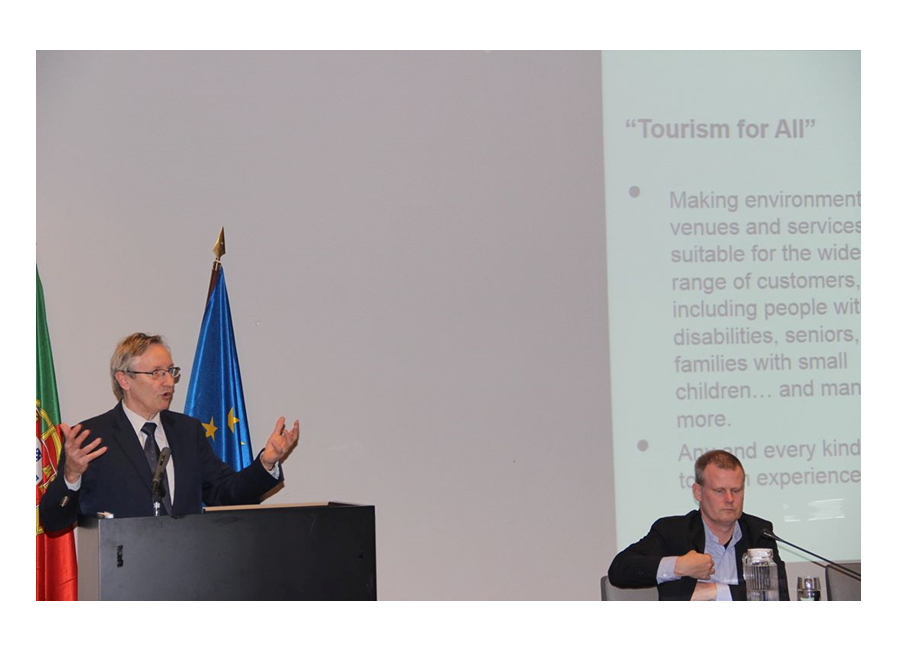 Intervenção de Ivor Ambrose, Managing Director da European Network for Accessible Tourism (ENAT)